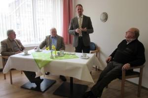 Dr. Edert, Klaus Meyer, Bürgermeister Marcus Itjen, Heinz Busch